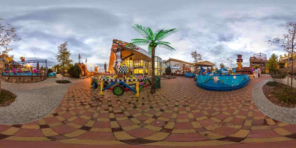 virtual tour 360 foto panoramiche attrazioni parco divertimenti