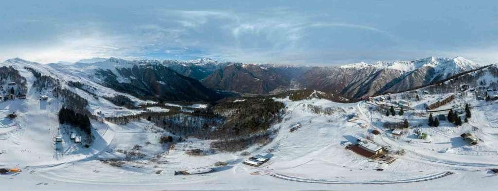 virtual tour 360 foto panoramiche impianti sciistici sportivi