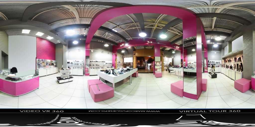 virtual tour 360 foto panoramiche interni negozio attività commerciale